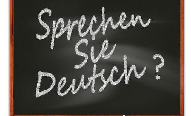 """Tafel """"Sprechen Sie deutsch?"""""""